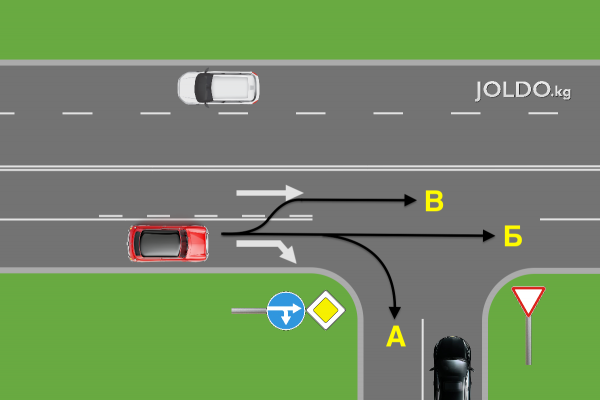 Задачка ПДД для опытных водителей.