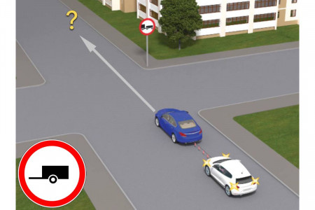 Можно ли буксировать автомобиль под этот знак?