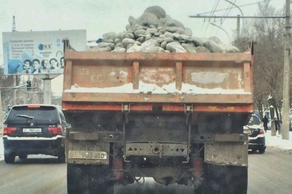 Какой штраф за перевозку камней?