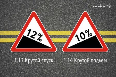 Как отличить эти знаки? Крутой спуск или подъем?